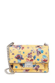 Rebecca Minkoff Christy Small Leather Floral Cross