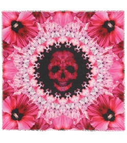Alexander McQueen Paradise Skull printed scarf