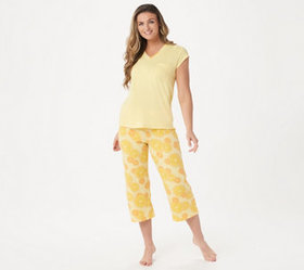 """As Is"" AnyBody Cozy Knit Fruit Slice Printed PJ S"