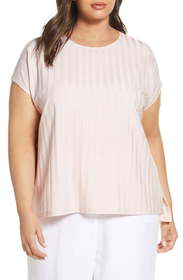 Eileen Fisher Rib Knit Top (Plus Size)