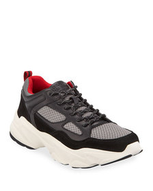 DKNY Men's Steven Mesh & Leather Sneakers