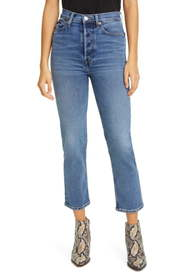 Re/Done '70s High Waist Crop Stovepipe Jeans