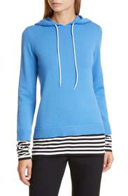 Michael Kors Collection Layered Cashmere Hoodie