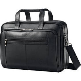 Samsonite Leather Checkpoint Friendly Case (Black)