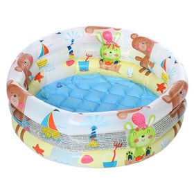 3 Ring 24'' Round Baby Kids Inflatable Swimming Po