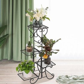Ktaxon 4 Tier Wrought Iron Plant Stand Flower Stan