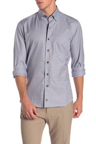 David Donahue Spread Collar Casual Fit Button Down