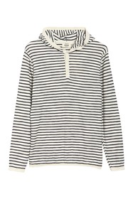 HEDGE Woven Knit Striped Sweater