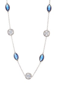 Carolee Crystal Station Illusion Necklace