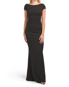 KATIE MAY Made In Usa Madison Cap Sleeve Gown