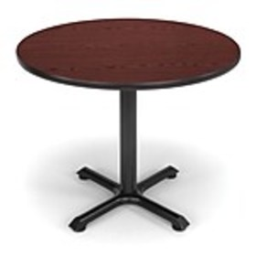 OFM X-Series 36Round Conference Table, Mahogany (X