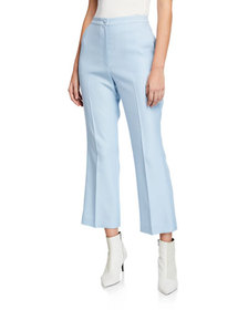 Partow Hadley High-Waist Flat-Front Flare Leg Pant