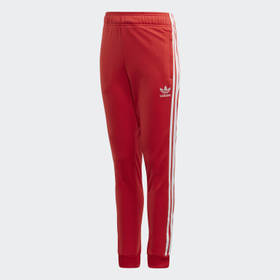 Adidas Youth Originals Red SST Track Pants