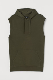 Relaxed Fit Sleeveless Hoodie