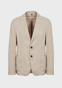 Armani Single-breasted jacket in garment-dyed line