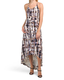 NICOLE MILLER Printed Hi-lo Maxi Dress