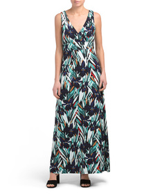 NICOLE MILLER Printed Surplus Maxi Dress