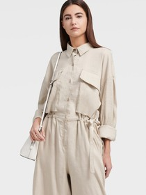 Donna Karan WIDE LEG JUMPSUIT WITH POCKETS
