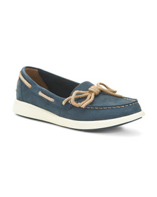 SPERRY Leather Moisture Wicking Boat Shoes
