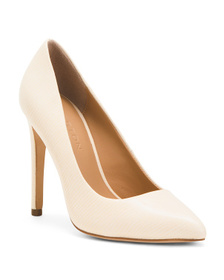 HALSTON HERITAGE Pointy Toe Leather Pumps
