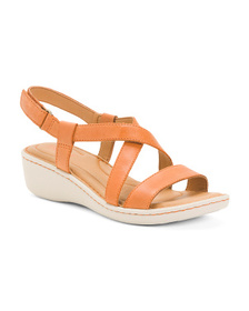 BORN Leather Comfort Strappy Sandals