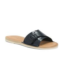 SPERRY Patent Leather Slide Sandals