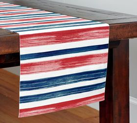 Pottery Barn Americana Watercolor Table Runner