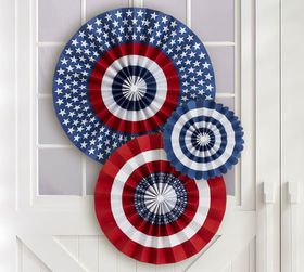 Pottery Barn Americana Pinwheels, Set of 3