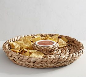 Pottery Barn Katherine Rope Chip & Dip Server