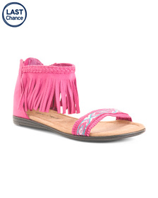 MINNETONKA Ankle Fringe Sandals (Little Kid, Big K