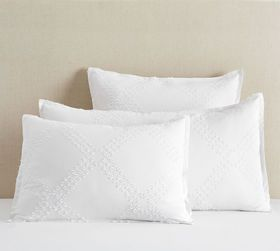 Pottery Barn Textured Jacquard Cotton Shams