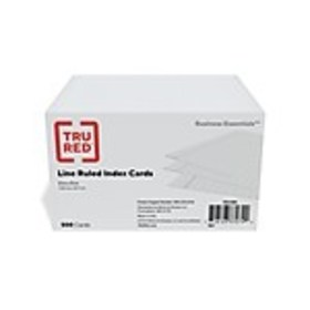 TRU RED™ 3 x 5 Index Cards, Lined, White, 500/Pack