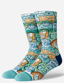 STANCE x Kevin Lyons Crunch Teal Blue Mens Crew So