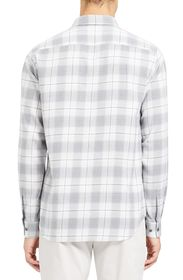 Theory Irving Slim Fit Flannel Button-Up Shirt