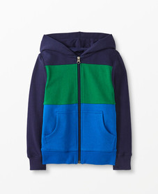 Hanna Andersson Colorblock Jersey Lined Hoodie