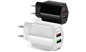 2-Port USB Fast Wall Charger AC Power Adapter US P