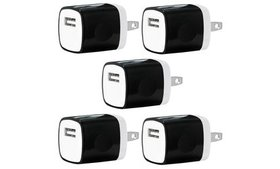 5x 1A USB Power Adapter AC Home Wall Charger US Pl
