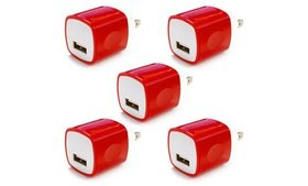 5x USB Wall Charger Plug AC Power Adapter for iPho