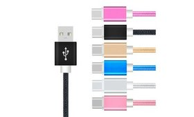 3 PACK Nylon Type C USB C Cable Fast Charging Char