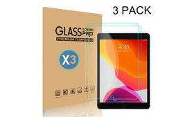 3-Pack Tempered Glass HD Screen Protector For iPad