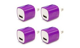 4x 1A USB Power Adapter AC Home Wall Charger US Pl