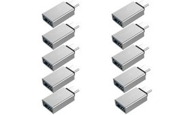 10-Pack USB-C Type C 3.1 Male to USB 3.0 Type A Fe
