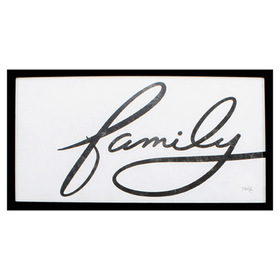Propac Images® Family Industrial Script Art Wall D