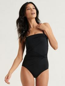 Lucky Brand Convertible Strapless One Piece