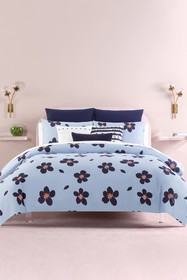 kate spade new york blue grand floral twin duvet c