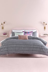 kate spade new york charcoal scallop row twin comf