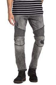 True Religion Rocco Relaxed Skinny Moto Jeans
