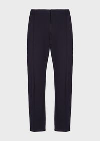 Armani Trousers in seersucker with central ribbing