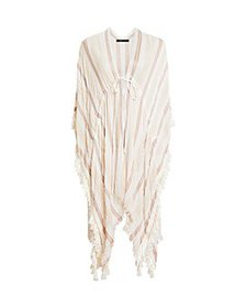 BCBGMAXAZRIA - Striped Tasseled Cover-Up