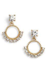 Marchesa Imitation Pearl & Crystal Drop Earrings